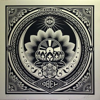 Lotus Album Large Format  2000 Limited Edition Print - Shepard Fairey