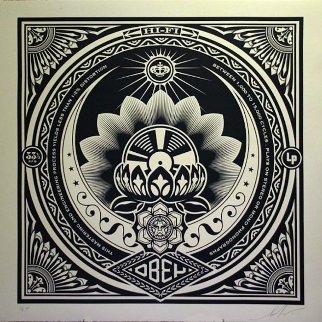 Lotus Album Large Format  2000 Limited Edition Print - Shepard Fairey