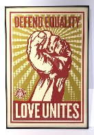 Love Unites 2008 Huge Limited Edition Print by Shepard Fairey  - 2