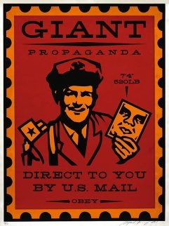 Mail Man 2000 Limited Edition Print - Shepard Fairey