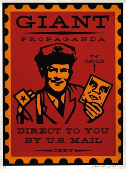 Mail Man 2000 Limited Edition Print by Shepard Fairey