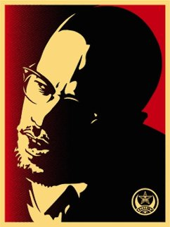Malcolm X Red 2006 Limited Edition Print by Shepard Fairey