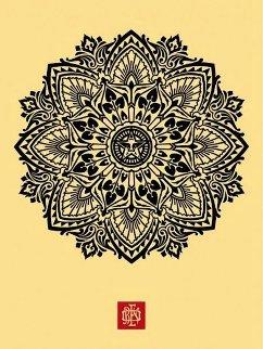 Mandala Ornament 1 Cream 2010 Limited Edition Print - Shepard Fairey