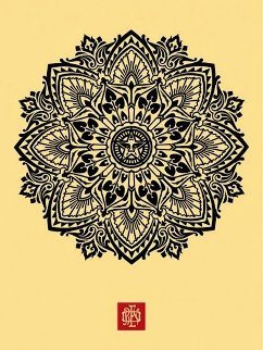 Mandala Ornament 1 Cream 2010 Limited Edition Print by Shepard Fairey