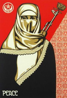 Muslim Woman 2003 Limited Edition Print by Shepard Fairey