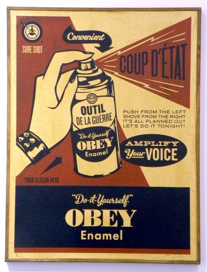 Obey Coup D'etat (on Wood) 2003 Limited Edition Print by Shepard Fairey