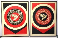Obey Dove Black and Red, Set of 2 Prints 2011  Limited Edition Print by Shepard Fairey  - 4