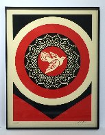 Obey Dove Black and Red, Set of 2 Prints 2011  Limited Edition Print by Shepard Fairey  - 2