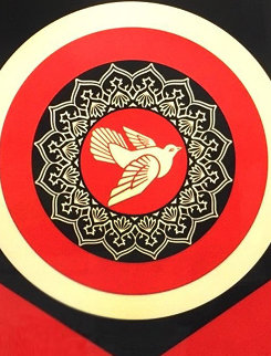 Obey Dove Black and Red, Set of 2 Prints 2011  Limited Edition Print by Shepard Fairey