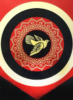 Obey Dove Black and Red, Set of 2 Prints 2011  Limited Edition Print by Shepard Fairey  - 1