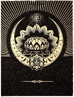 Obey Lotus Crescent (Black/Gold) 2013 Limited Edition Print by Shepard Fairey  - 0
