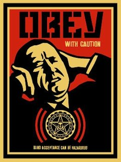 Obey With Caution (P. 339) 2002 Limited Edition Print by Shepard Fairey
