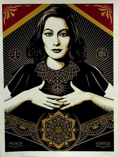 Peace and Justice 2013 Limited Edition Print by Shepard Fairey