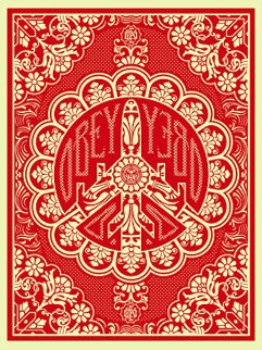 Peace Bomber Red 2008 Limited Edition Print by Shepard Fairey