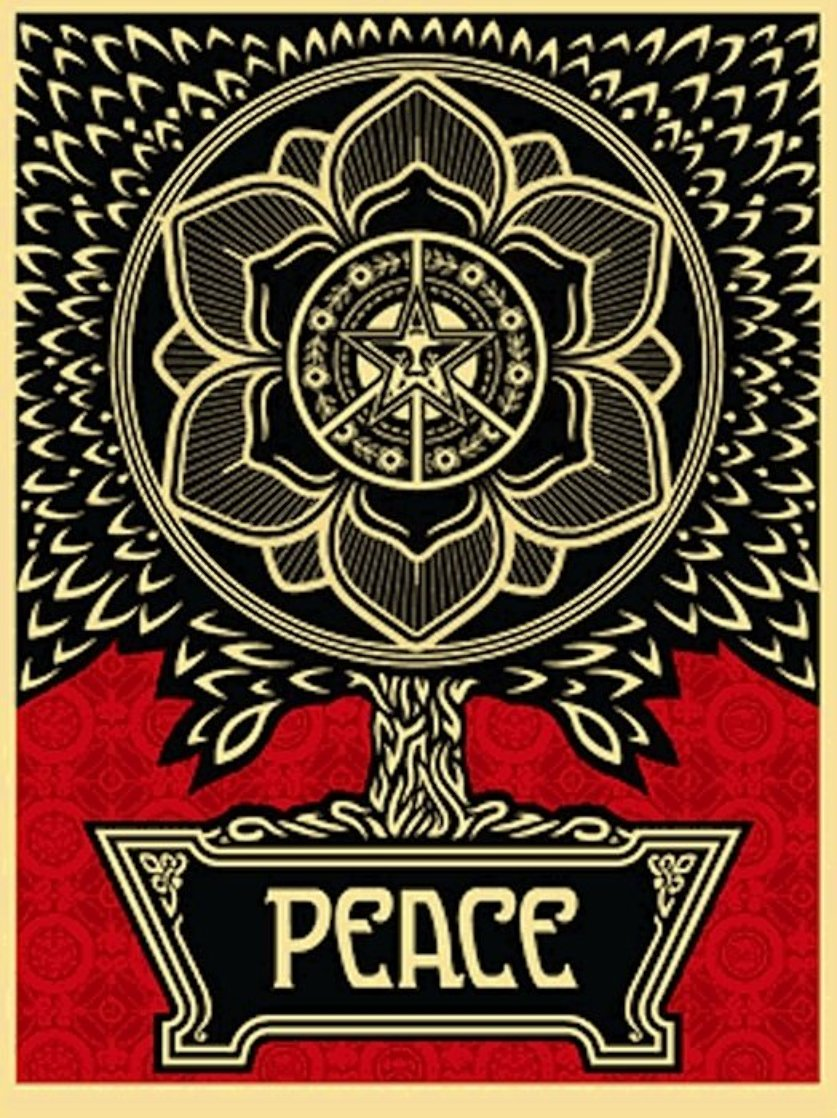 Peace Tree 2007 Limited Edition Print by Shepard Fairey