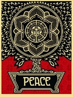 Peace Tree 2007 Limited Edition Print by Shepard Fairey  - 0