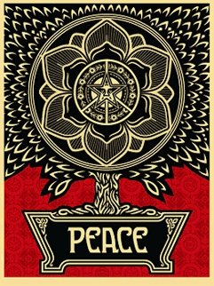 Peace Tree 2007 Limited Edition Print - Shepard Fairey
