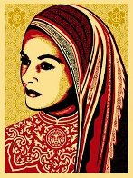 Peace Woman 2008 Limited Edition Print by Shepard Fairey  - 0