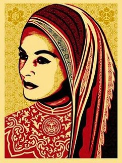Peace Woman 2008 Limited Edition Print by Shepard Fairey
