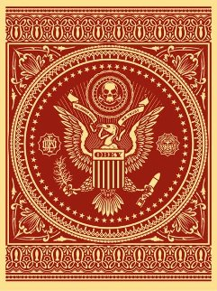Presidential Seal Red 2007 Limited Edition Print - Shepard Fairey