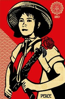 Revolution Woman 2005 Limited Edition Print by Shepard Fairey
