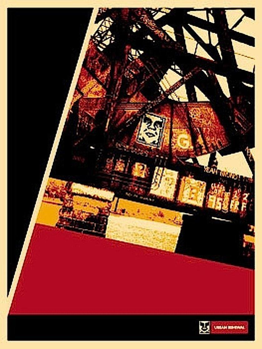Ri Bridge 2001 Limited Edition Print by Shepard Fairey