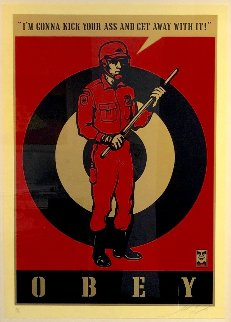 Riot Cop Large Format 2009 Limited Edition Print by Shepard Fairey