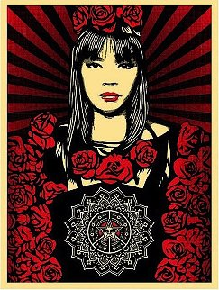 Rose Girl 2008 Limited Edition Print by Shepard Fairey