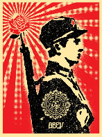 Rose Soldier 2006 Limited Edition Print by Shepard Fairey  - 0