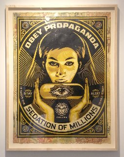 Sedation Pill 2013 40x30 Hand Painted Works on Paper (not prints) by Shepard Fairey