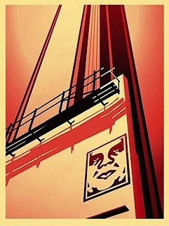 Sunset & Vine Billboard  2011 Limited Edition Print - Shepard Fairey