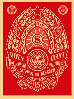 Supply And Demand (Red) 2004 Limited Edition Print by Shepard Fairey