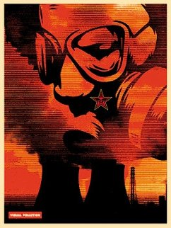 Visual Pollution Gas Mask 2001 Limited Edition Print - Shepard Fairey