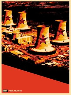 Visual Pollution Smoke Stacks 2001 Limited Edition Print - Shepard Fairey