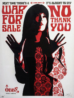War For Sale (Cream) 2007 Limited Edition Print - Shepard Fairey