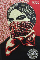 Zapatista Woman Large Format 2005 Limited Edition Print by Shepard Fairey  - 0