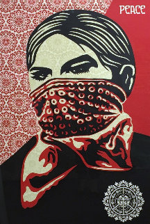 Zapatista Woman Large Format 2005 Limited Edition Print by Shepard Fairey