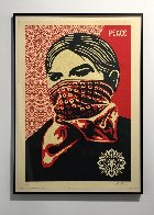 Zapatista Woman Large Format 2005 Limited Edition Print by Shepard Fairey  - 1