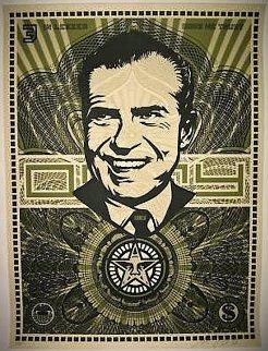 Nixon Money AP 2003 Limited Edition Print by Shepard Fairey