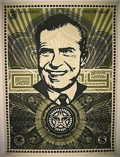 Nixon Money AP 2003 Limited Edition Print by Shepard Fairey