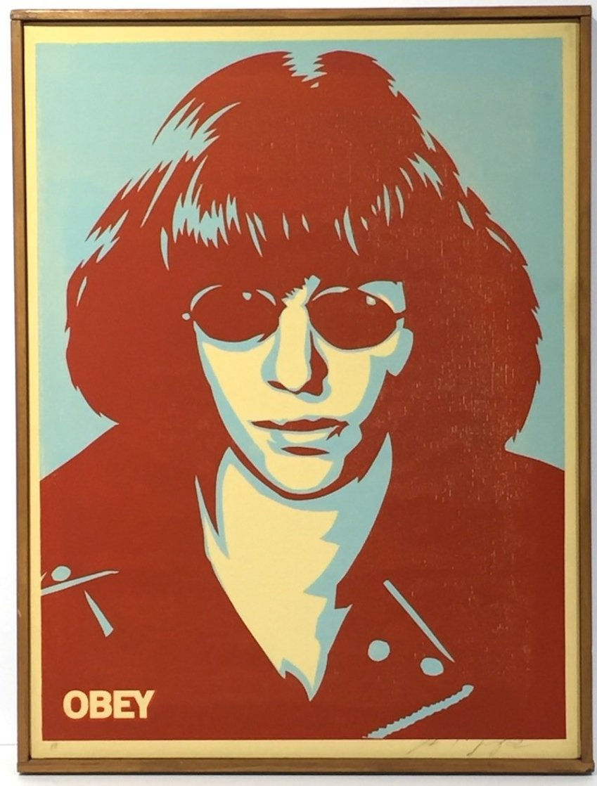 Ramone Canvas AP 2002 Limited Edition Print by Shepard Fairey