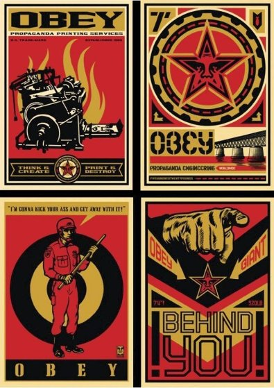 20 Year Retro Series Set of 4 Limited Edition Print by Shepard Fairey