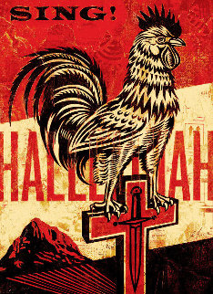 Jesus' Chariot 2012 Limited Edition Print by Shepard Fairey