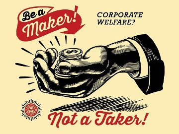 Corporate Welfare 2015 Limited Edition Print by Shepard Fairey