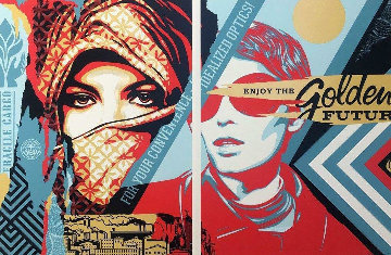Golden Future For Some 2017 Limited Edition Print by Shepard Fairey