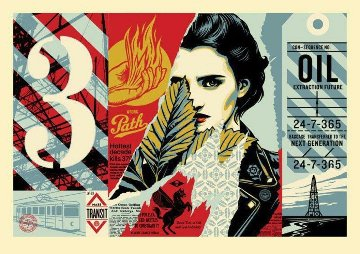 Wrong Path Large Format 2018 Limited Edition Print by Shepard Fairey