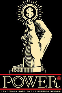 Power Bidder 2015 Limited Edition Print by Shepard Fairey