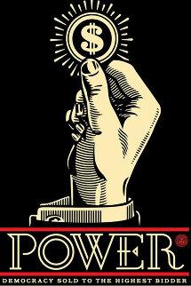 Power Bidder 2015 Limited Edition Print by Shepard Fairey