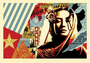 Welcome Visitor, Large Format 2018 Limited Edition Print by Shepard Fairey