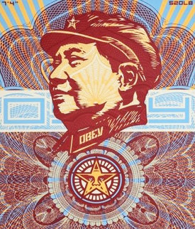 Beloved Premier, We Are Blinded By Your Majesty (Mao Money Red)    2003 Limited Edition Print by Shepard Fairey